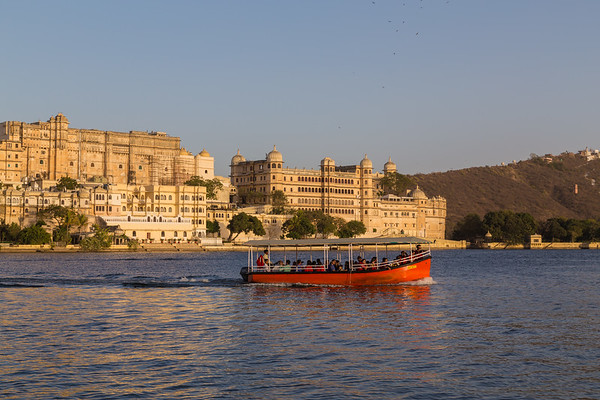 City Palace in Udaipur during the day