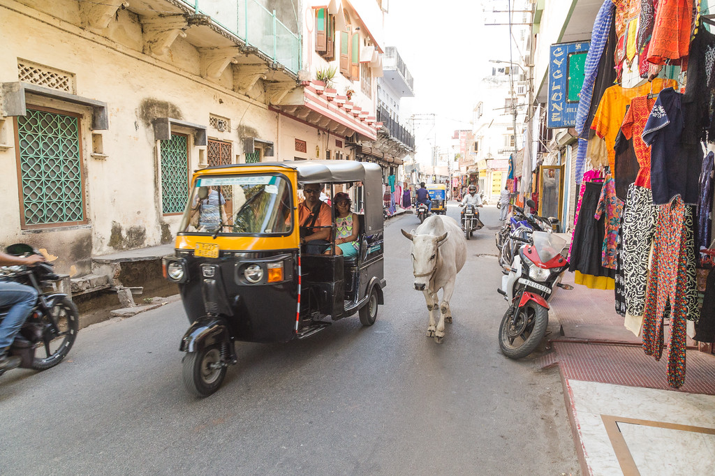View along streets of Udaipur