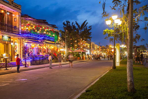 Streets of Hoi An at Night