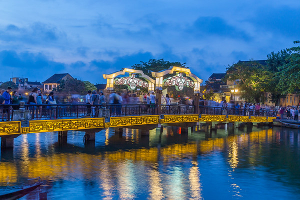 Bridge over the Thu Bon River connecting to the Ancient Town Hoi An