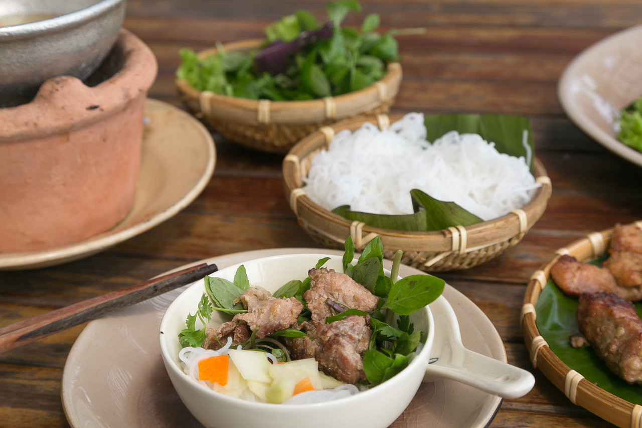 Bun Cha serving in Vietnam
