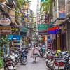 Streets and buildings in Hanoi, Vietnam