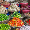 Vegetables at a stall in Hanoi, Vietnam