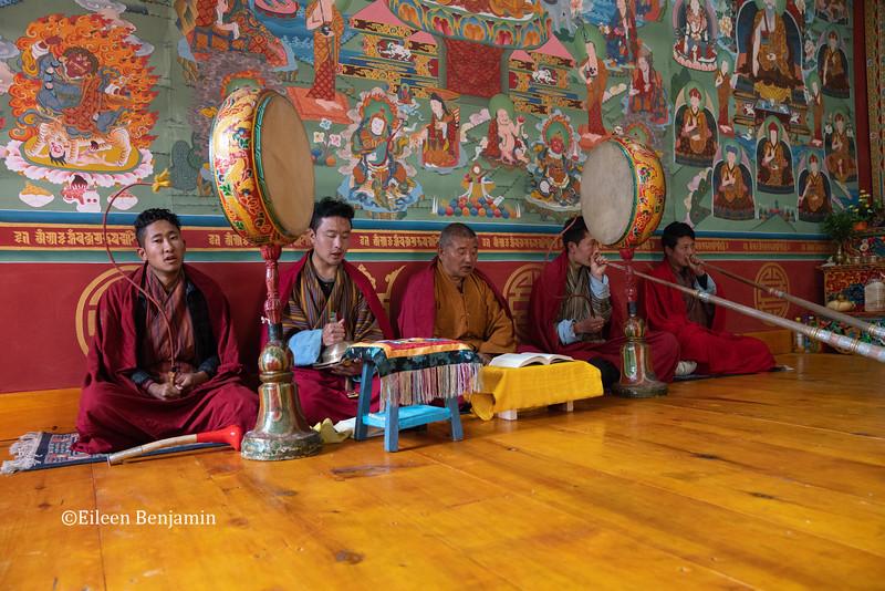 """Puja"" prayer ceremony at Haa Tey Gompa"