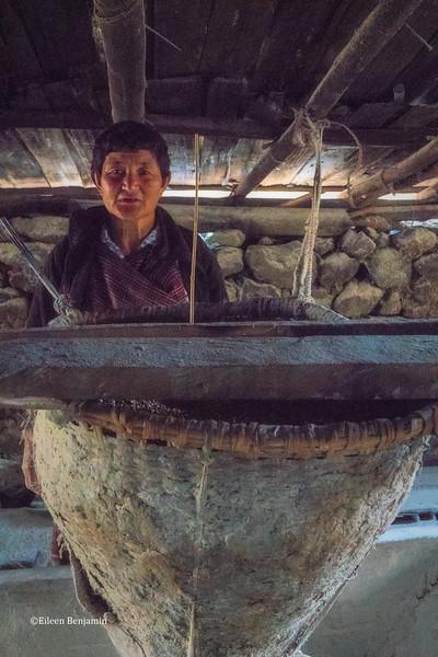 Haa Valley: Buckwheat mill at Soedham Zingkha Lodge