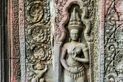 Friese detail, Ta Prohm, Angkor Archeological Park