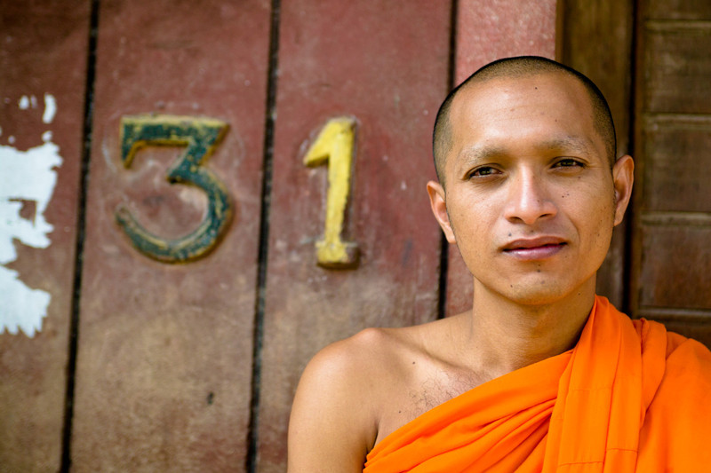 A Cambodian monk in Phnom Penh.
