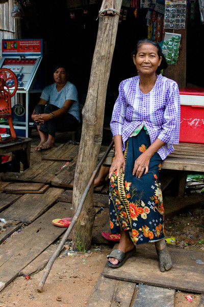 A land mine survivor in Pursat, Cambodia. Cambodia has one amputee for every 290 people - one of the highest ratios in the world.