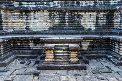 Tiered levels detail, Angkor Archeological Park