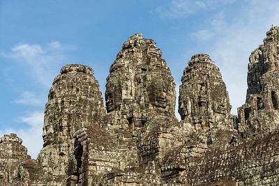 The many faces of Bayon temple.