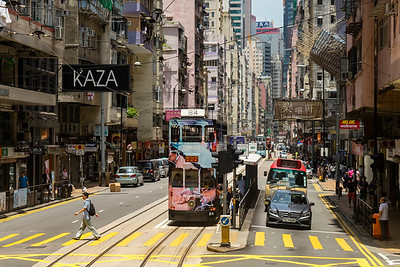 Typical Hong Kong street scene