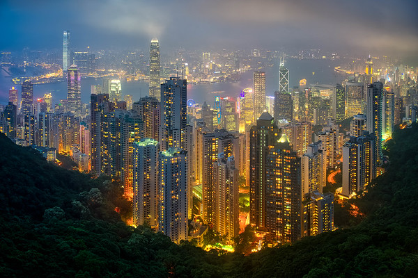 Hong Kong nighttime view from The Peak