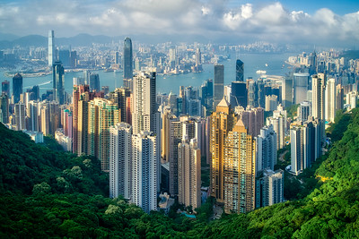 Hong Kong daytime view from The Peak