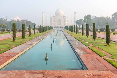 Morning Fog at Taj Mahal