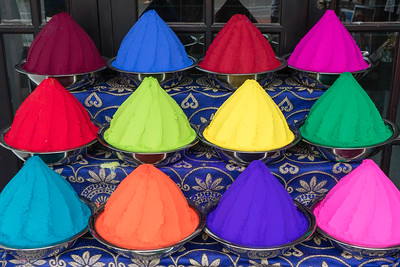 Colorful dyes in Fort Cochin