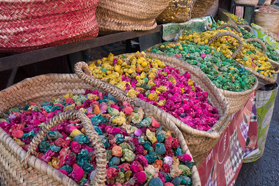 Colorful part of spice market