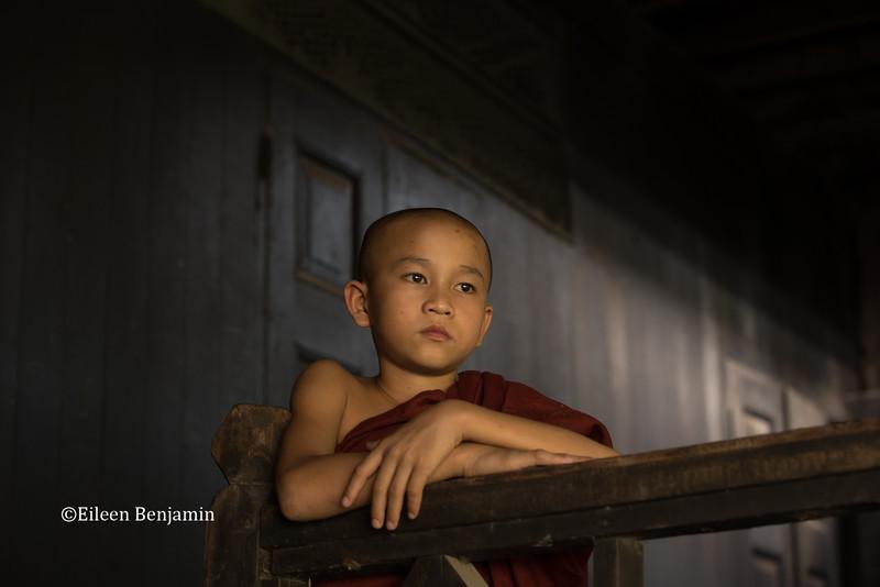 Monk at Chaukhtetkyi monastery - Yangon