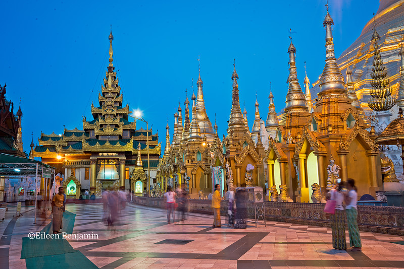 Sunrise at Shwedagon Pagoda -Yangon