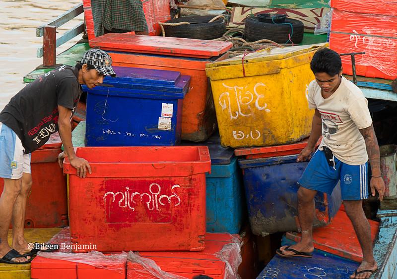 Thiri Mingalar fish market - Yangon