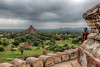 View from Shwesandaw Pagoda, Bagan