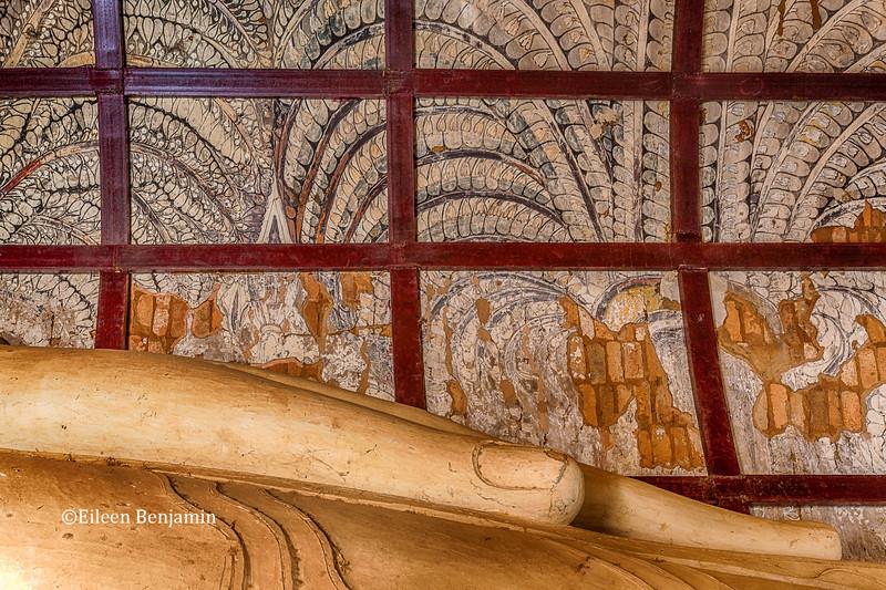 Buddha detail in Bagan temple