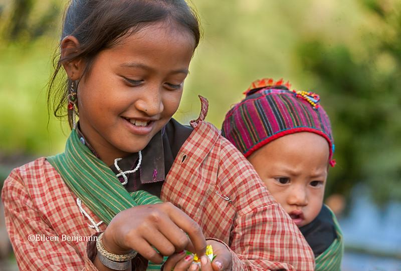 Eng Lady with Black Teeth from Chewing Herbs, Pintauk Village - Kyaington, Burma