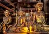Golden Buddhas at Wat Inn Monastery - Kyaingtong, Burma
