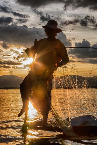 Fisherman on Inle Lake - Myanmar