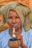 Village woman smoking pipe- Mandalay, Burma