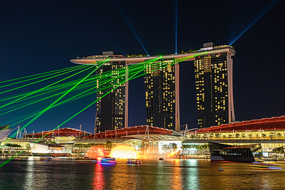 Marina Bay Sands laser light show