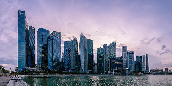 Singapore Harbour Skyline