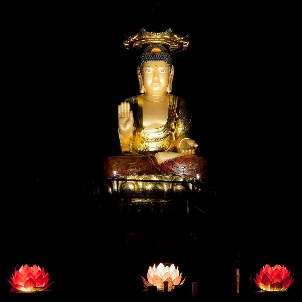 Glowing Buddha