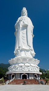 The 67 meter tall Lady Buddha at Linh Ung Pagoda in Da Nang.