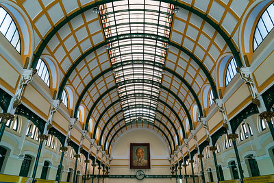 The Central Post Office in Saigon was designed by Gustave Eiffel.