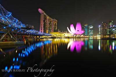 Marina Bay at Night, Singapore