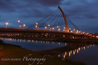 Dazhi Bridge in Morning Blue Hour, Taipei