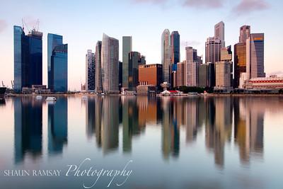 Downtown Singapore Sunrise
