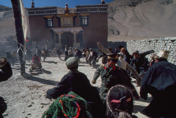Party at dedication of new Gompa,