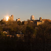 Winter sunset over Winston-Salem