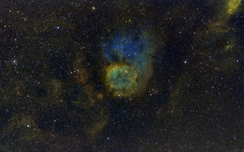 Sharpless 284<br /> <br /> Collaboration effort with Jim Wood <br /> <br /> Feb/March 2013<br /> <br /> Telescopes - FSQ-106ED<br /> Cameras - FLI ML11002<br /> Mounts - AP Mach1GTO<br /> <br /> Ha - (5nm) - 3 Hours - Wood<br /> OIII - (3nm)- 7.5 Hours - Chesak<br /> SII - (5nm) - 3 Hours - Wood<br /> RGB - G, B -45 min, R - 35 min - Wood