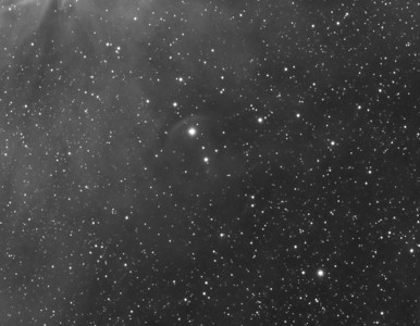 IC2177 Crop  Interesting bow wave near the bright double star