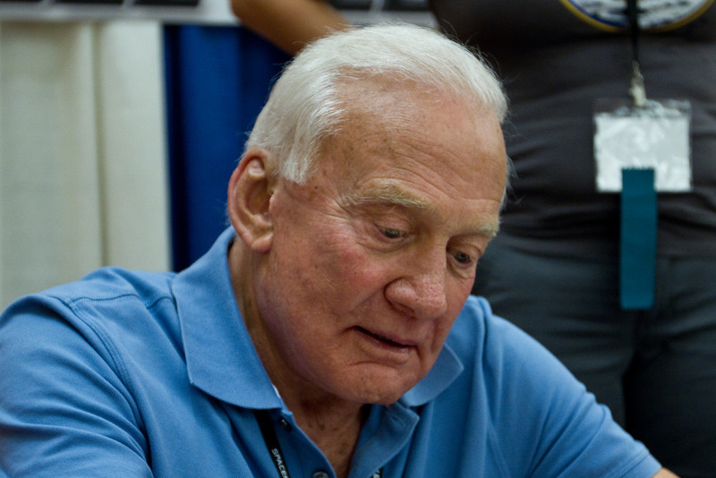 Another photo of Colonel Buzz Aldrin.