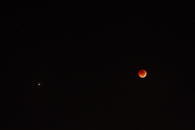 Moon and the Red Planet