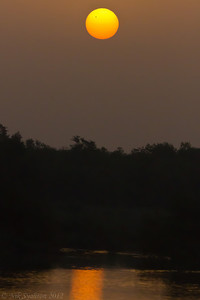 Venus transit at sunrise as seen from Abu Dhabi, UAE