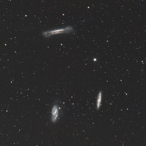 Galaxy Trio M65, M66, and NGC3628 in Leo