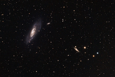 Galaxy M106 (NGC 4528) in Canes Venatici