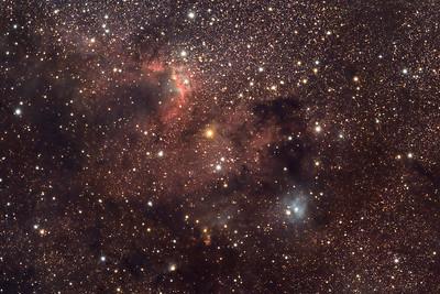 Cave Nebula (Sh2-155) in Cepheus