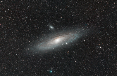 Andromeda Galaxy(M31), M32, and M110 in Andromeda