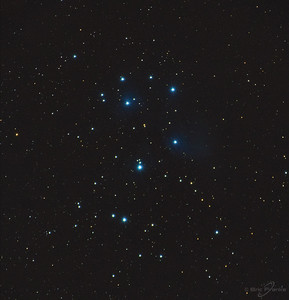 Another test, this time of the Pleiades star cluster. I will get much more time on this target later.