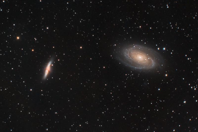 M82 (Cigar Galaxy) and M81 (Bode's Galaxy) in Ursa Major